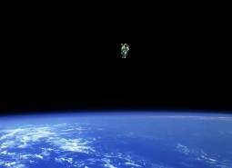 lonely astronaut Bruce McCandless II, NASA