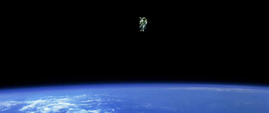 lonely astronaut Bruce McCandless II, NASA